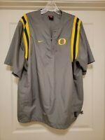 Vintage 90s Nike Oregon Ducks Player Used Team Worn Jacket Sz L RARE