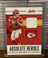 2020 Panini Absolute Patrick Mahomes II Heroes Patch Relic SP /25 Used Jersey