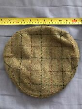 Brand New - Mens 100% Wool Tweed Flat Cap  Style Shooting Flat Cap 54cm