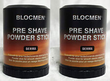 SAVE! TWO PRE-SHAVE POWDER STICK DERMA BLOC - BY BLOCMEN