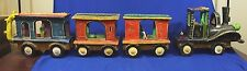 Antique Folk Art Clay Train Set by Candelario Medrano
