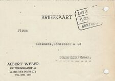AMSTERDAM, Postkarte 1934, Albert Weber