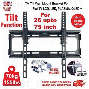 TV Wall Bracket Mount Tilt For 26 32 40 42 46 50 55 60 75 Inch 3D LCD LED Plasma