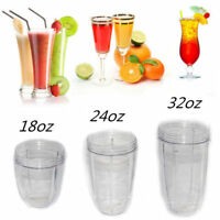 18/24/32 OZ 3Pc Cup Replacement For All NutriBullet Juicer Model 900W Spare Set