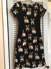 Modcloth Smashed Lemon Dog French Bulldog Boston Terrier Dress S Nwt