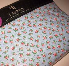 Nip RALPH LAUREN Pink Rose ABBY FLORAL TWIN Size DEEP Fitted SHEET Made in USA