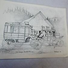 1975 Native Canada Stage Coaches Print by B. Barker