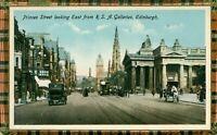 Princes Street looking East from R.S.A. Galleries. Edinburgh (Philco Pub.) 1910s