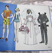 VTG PAPER DOLLS 1970s BRIDAL WHITMAN #1967  1960s FASHIONS ALL CLOTHES UNCUT!!
