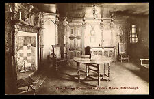 THE DINING ROOM - JOHN KNOX'S HOUSE - EDINBURGH - UNUSED POSTAL CARD (ESP#1152)