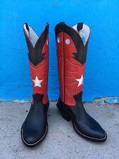 Jose Sanchez Boots, 9.5EE Men's Black Bullhide TX Bandido Working Cowboy Boots