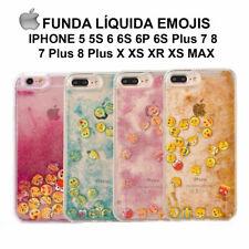 Funda liquida EMOJIS IPhone 5 5s 6 6S Plus 7 8 X XS XR XS MAX líquido 4 colores