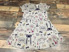 Gymboree Cosmic Club Bunny Doodle Dress Toddler Girls Gray NWT 5t