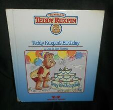 VINTAGE 1985 WORLD OF WONDER TEDDY RUXPIN BIRTHDAY READING & PICTURES BOOK