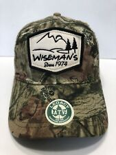 Wiseman's Since 1974 Hunter Cap Hat Trucker Camo Snapback Cotton Polyester
