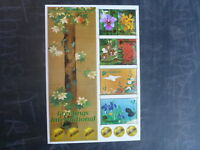2006 SINGAPORE-JAPAN JOINT ISSUE ORCHIDS 6 STAMP MINI SHEET