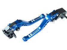 Kawasaki Zx6r 636 2007-2016 Corto Azul Freno Y Embrague Palancas Set Pista De Carreras s15f