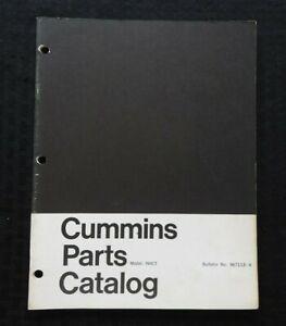 Originale CUMMINS Nhct Serie Motore Diesel Parti Manuale Catalogo Carino Forma