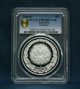 2000-P AUSTRALIA OLYMPIC SILVER PROOF PCGSPR69 ECHIDNA