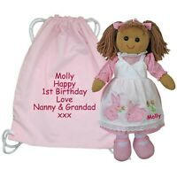 Personalised Rag Doll Baby's 1st Birthday, 13th 16th 21st 30th Celebration Gift