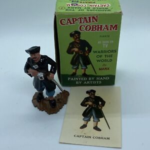 1960s Marx Warriors Of The World Captain Cobham Pirate Box And Card
