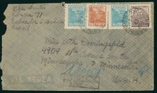 Mayfairstamps Brazil 1950s Registered to Minnesota Airmail cover wwo1647