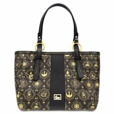 NEW WOMENS DISNEY DOONEY & BOURKE STAR WARS THE LAST JEDI BLACK TOTE HANDBAG BAG