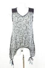 MADAME ZAZA OF MARSEILLE Top Gr. S / 36 Lagenlook Asymmetrisch Chiffon Shirt