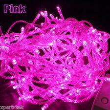 100 LED 10M PINK String Fairy Lights Christmas Wedding Garden Party Xmas Decor