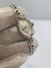 Ladies Vintage Bulova 14Kt White Gold Diamond Watch