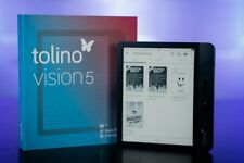 Tolino Vision 5 eBook | Reader (schwarz) ~ Wie Neu & OVP ~