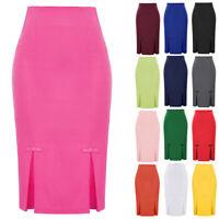 PLUS SIZE Women Bow-Knot Skirt Midi Skirt OL Office Pencil Bodycon Shift Dress