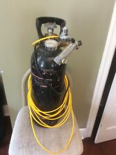 Vintage Steel Scuba Tank Luxfer and Valves