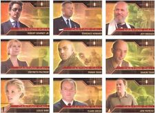 IRON MAN ORIGINAL 2008 MOVIE CASTING CALL CC1-CC9 INSERT CARD SET (9)
