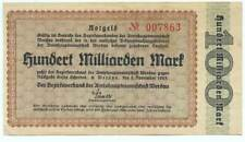 Werdau - Inflation 1923 - 100 Millarden Mark