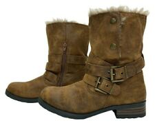 HEAD OVER HEELS by DUNE RUTT Ladies Womens Boots Size 6 EU 39 Fur Ankle