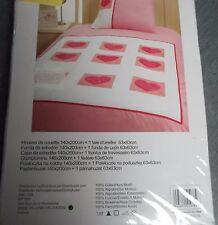 HOUSSE DE COUETTE AVEC COEUR 140 X 200 CM + TAIE  - NEUVES