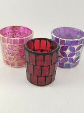 Votives Lot Of Three (3) Candle Holders .New