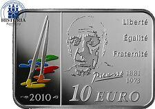 Frankreich 10 Euro Silber 2010 PP Bedeutende Maler: Pablo Picasso