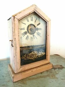 Vintage Antique Early 20th Century Handmade Mantlepiece Clock