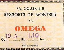 Mainspring Ressort Muelle Zugfeder Molla per Omega cal. 19.5
