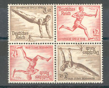 Germany - DR Berlin Olympic Games Stamp Block of 4 Tete-Beche 1936 MNH**