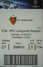 TICKET UEFA CL 2013/14 FC Basel - Ludogorets Razgrad