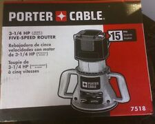Brand New Porter Cable 7518 Fixed Base Router 5 Speed