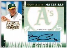 Bobby Crosby 05 Donruss Prime Patches Auto Oakland A's*