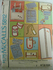 Vintage McCalls 5812 Garment Bag Sewing Pattern Checkbook Holder French Wallet