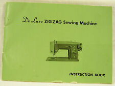 New listing Vintage De Luxe / Super Zig Zag Sewing Machine Instruction book