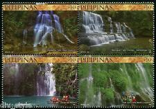 Waterfalls se-tenant block of 4 stamps mnh Philippines 2014 Tourism