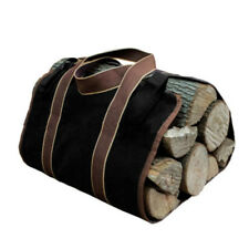 1X Heavy-Duty Canvas Fire Wood Firewood Log Carrier Tote Holder Carry Bag U1