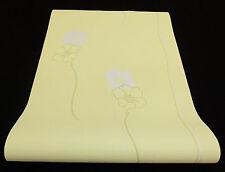 """05183-60-) Vliestapete """"Lacantara"""" Blumen Design Tapeten grün + grau mit Glanz"""